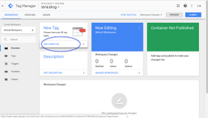 Google Tag Manager Dashboard View